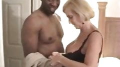 Grannie with big tits interracial.