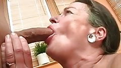Classy Hairy Granny enjoys young cock