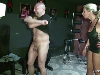 Hypnotic femdom slave - Two german milf femdom slave and blackmail to eat own sperm