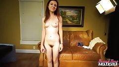 Интервью на кастинге на диване в любительском видео, трахнули хорошо