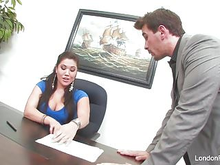 Asian london keyes Asian hottie london keyes gets an office fuck