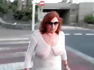Naked old granny video - Solo 53 granny gilf three videos naked in public