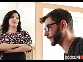 Moms fucking stepsons - Horny big tits milf stepmom veronica avluv fucked by stepson