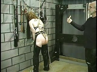 Mature slave sex Slave gets bound by ropes and ass lashed hard with whip