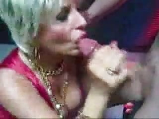 Erotic christmas party - Hot blonde mature sucks cock at christmas party