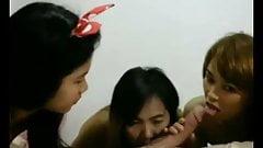 Asian Girls Take Cock