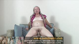 Hairy euro slut Granny first porn