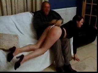 White panties spanked - White panties spanking wedgie