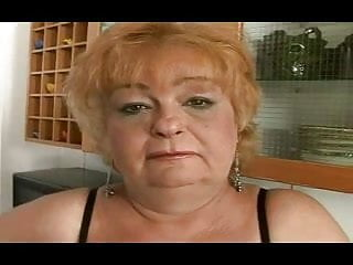 Chubby redhead from young fatties Chubby granny gets a facial from a boy