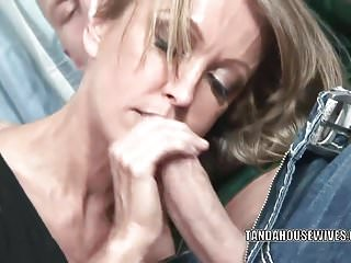 Black jizz on mature tits Mature slut kristina cross takes all the jizz on her face