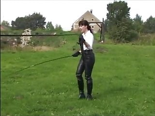 Teen lungs Ponyboy lunging whip