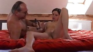 Old man fucks a young and cum in the ass