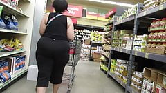 Fat granny booty in tight pants