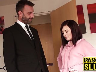Choking on dick porn movies - 18yo slut chloe carter choked with hands and big dick