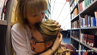 Students Holly & Ida Do It in the Library