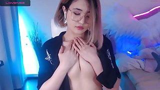 naked young Asian girl masturbating on camera