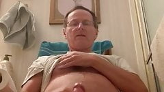 Daddy Masturbating Naked in the Bathroom