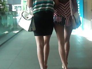 Vintage hot pants Ass cheek - girl in hot pants