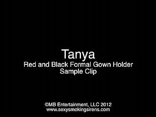 Hot sexy formals gallery Tanya red and black formal gown holder