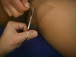 Ripped women fuck Nurses nylons ripped and hairy pussy fucked