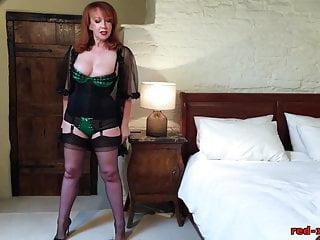 Naughty fuck girls Naughty mature redhead fucks her pussy with her heels