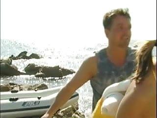 Man boobs at the beach - Best scenes 7 - boobs and boner at the beach