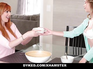Femdom daughter Dyked - horny stepmom seduces young daughter