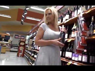 Naughty alysha pee Supermarket pickup