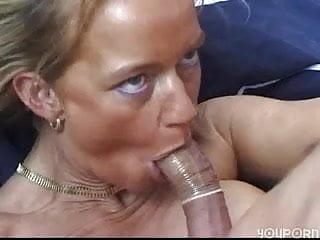 Condom blowjob video