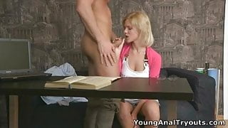 Young Shelly is now addicted with anal sex