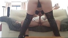 Hot Blonde in boots fucking and sucking