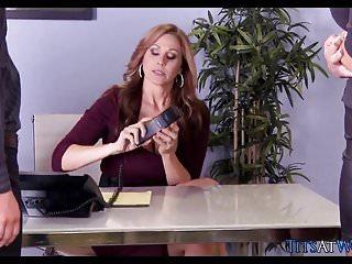 Lesbian cougar seduction - Seductive milf sluts at the office