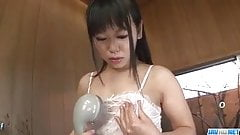 Smooth finger fucking solo in the shower with Koyuki Ono