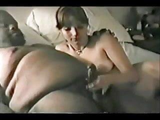 Vintage white maple White bitch satisfies fat black