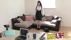FakeAgentUK Amateur brit girl shows impressive deep throat