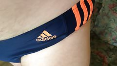 I In Adidas Speedo Dark Dark Blue Orange Stripes