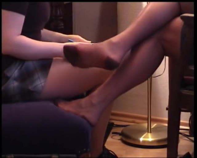 Mature Nylon Feet Licking