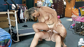 Big tit blonde wife takes it in all of her holes
