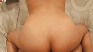doggy style with co-worker and cum on ass