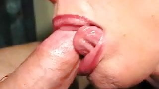 CUM FOR HER TONGUE