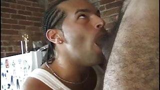Barrio Cocksucker Seduces Handyman's Boy