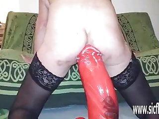 Insane throat fucking Insane xxl anal dildo fucking destruction