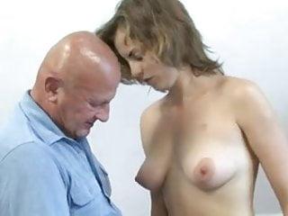 Nude bald Bald old man fucks brunette