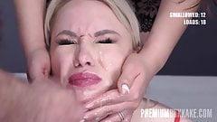 Premium Bukkake -   Taylor swallows 67 mouthful cumshots