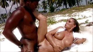 Hottest interracial sex on the beach