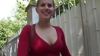 Cute French Amandine masturbates