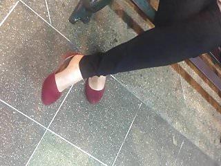 Butter annette pantyhose la Nylons ricas piernas sexys-la flaquita banquera
