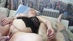 joint masturbation after which she sucks my cock