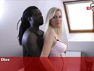 Www black porn German blonde amateur milf userdate with black porn star