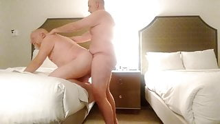 Hairy Daddy Fucked Nicely at a Hotel